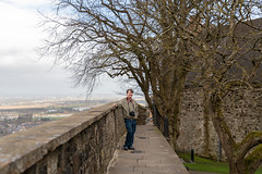 Matt at Stirling Castle (Courtarro) Tags: mattmalone scotland stirling stirlingcastle building castle flora person plant tree