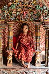Kumari (Dario de Falco) Tags: religione kumari induismo buddismo asia nepal bhaktapur shiva bambina dea durga