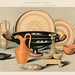 Ceramic Art: Ancient Greek, Cyprian and Etruscan (1891), a collection of everyday ceramic tools used in the ancient times. Digitally enhanced from our own original plate.