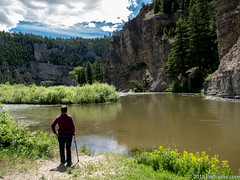 Along the Smith River (Jim Frazier) Tags: q3 2018 201807montana 201807montanagreatfallssmithriver cabin cliffs friends greatfalls group jimfraziercom july kate landscape millegan montana mountains nature people picnic portrait portraits portraiture river scenery scenic smithriver summer vacation water rocky f10 fastpictures