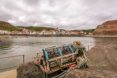DSC_0037 -  Staithes harbour (SWJuk) Tags: staithes england unitedkingdom swjuk uk gb britain yorkshire northyorkshire clevelandway harbour pier water lobsterpot sky clouds cloudy nikon d7100 nikond7100 tokina1116mm wideangle 2018 jul2018 summer rawnef lightroomclassiccc