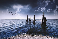 A storm is coming... (Jeff Camphens) Tags: storm contrast water sea landscape waterscape dark weather experimental sky clouds ocean nikon 10mm d3300