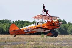 SE-BOG (2) (goweravig) Tags: boeing stearman kaydet sebog wnas18 swanseaairport wingwalkers aerosuperbatics 1 visiting aircraft swansea wales uk biplane