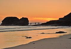Bundoran sunset. (carolinejohnston2) Tags: tide wildatlanticway waves cliff ireland donegal summer evening rocks shore