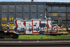 ? (NJphotograffer) Tags: graffiti graff trackside railroad rail art freight train bench benching box car boxcar