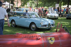 1958 Alfa Romeo Giulietta Spider (faasdant) Tags: 46h annual forest grove concours delegance 2018 pacific university campus classic car automobile show exhibition 1958 alfa romeo giulietta spider light blue convertible