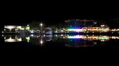Cleveland_Night_1 (Peppergroyne) Tags: cleveland afterdark reflections wetreflections water nightphotography brisbane queensland australia longexposure