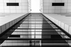 Cologne Abstract (Zesk MF) Tags: bw black white zesk schwarz weiss cologne windows spiegelung reflection mirroring up architecture building