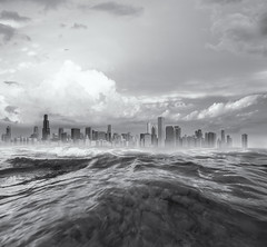 waving (momozart) Tags: city architecture architectural buildings sea ocean skies sky blackandwhite cityscape chicago momozart seaside clouds cloudy storm noiretblanc town urban skyline panoramic illinois windycity chitown water wave waves seacoast lake lakemichigan chicity skyscraper cloudscape