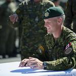 NATO paplašinātās klātbūtnes Latvijā kaujas grupas vadības maiņas ceremonija thumbnail