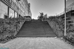 The stairs to higher grounds. (PhotoTJH) Tags: phototjh phototjhnl urban street straat stairs trap trappen hdr amsterdam sloterdijk