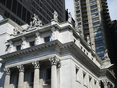 Courthouse Statues Next to Madison Square Park 5407 (Brechtbug) Tags: courthouse roof statues across from madison square park new york city caryatid atlantid 2018 nyc 07152018 art architecture gargoyle gargoyles statue sculpture sculptures facade figures column columns court house law government building buildings