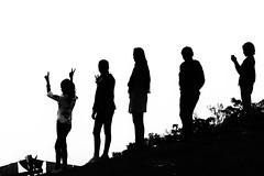0778 Nepali Girls (Hrvoje Simich - gaZZda) Tags: outdoors girls silhouette monochrome blackwhite nepal asia travel nikon nikond750 nikkor283003556 gazzda hrvojesimich