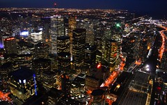 There's So Much Beauty When Your Eyes Lay Lost In All The City Lights (Greg's Southern Ontario (catching Up Slowly)) Tags: toronto cityoftoronto citylights brightlights illumination torontoskyline skyscrapers officebuildings downtowntoronto nightphotography torontoatnight