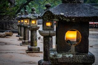 Stone Lanterns @ Miyajima