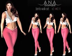 NEW! Subtle Walk Posing Set (bento) (Anastassiana | Ana Boutique SL) Tags: sl secondlife posing poses walk maitreya catwa letre doux candydoll realevil anaboutique