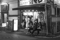 FUN OF WAITING (ajpscs) Tags: ajpscs ©ajpscs japan nippon 日本 japanese 東京 tokyo city people ニコン nikon d750 tokyostreetphotography streetphotography street 2018 shitamachi night nightshot tokyonight nightphotography citylights tokyoinsomnia nightview monochromatic grayscale monokuro blackwhite blkwht bw blancoynegro urbannight blackandwhite monochrome alley othersideoftokyo strangers walksoflife omise 店 urban attheendoftheday urbanalley tokyoscene anotherday funofwaiting