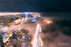 (6.18.18)-360_Fog-WEB-7 (ChiPhotoGuy) Tags: chicago architecture skyline cityscape clouds cloudporn fog foggy chasingfog weather night dusk bluehour observatory moody