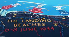 The Landing Beaches (peterphotographic) Tags: olympus em5mk2 microfourthirds ©peterhall normandy normandie france collevillesurmer normandyamericancemeteryandmemorial p5230459cb2filmnc1aedwm thelandingbeaches map dday normandylandings worldwartwo war invasion beach