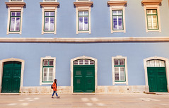 Walking in the streets of Lisbon, Portugal (fried oreo cookie) Tags: walking street color colorful woman sky windows pretty fashion artisitic wide vintage moment freeze colors blue house old architecture euorpe lisbon portugal houses townhouse road trip tour travel traveling passingby 5dsr 5d canon canon5dsr europe amazing impressive digital 50mp