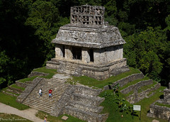 The temple of the Sun / Храм Солнца (Vladimir Zhdanov) Tags: travel mexico chiapas palenque maya temple ancient ruins selva wood tree architecture people grass