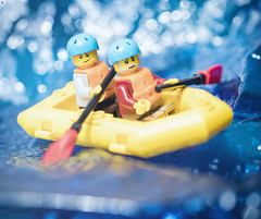 White Water Rafting (Jezbags) Tags: white water rafting lego legos toy toys minifigures macro macrophotography macrodreams macrolego canon canon80d 80d 100mm closeup upclose