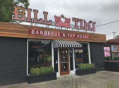 Bill & Tim's (skipmoore) Tags: eugene billtimsbarbecue storefront neon sign