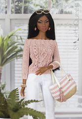 Adele (Stiletto Queen) Tags: fr fashionroyalty adelemainattitude pink spring summer bag