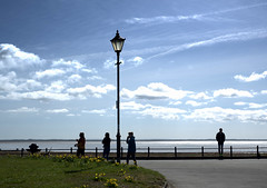 On the prom at Lytham (Tony Worrall) Tags: welovethenorth nw northwest update place location uk england north visit area attraction open stream tour country item greatbritain britain english british gb capture buy stock sell sale outside outdoors caught photo shoot shot picture captured lancs lancashire fylde fyldecoast candid people tourist lamppost lamp weather scene clouds outline outdoor bluesky