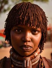 Hamar Woman (Rod Waddington) Tags: africa african afrique afrika äthiopien ethiopia ethiopian ethnic etiopia ethnicity ethiopie etiopian omovalley outdoor omo omoriver outdoors hamar hamer tribe traditional tribal woman culture cultural portrait people