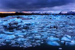 Iceland's Amazing Jökulsárlón Glacier Lagoon (yan08865) Tags: jokulsarlon glacier ice blue icebergs sea sky water flow landscape iceland nordic lagoon river earth nature pavlis rock mountain sunset winter photographers vatnajökull