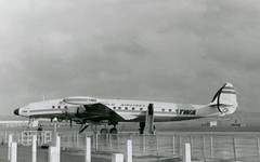 N7111C. Trans World Airlines Lockheed L-1049G Super Constellation (Ayronautica) Tags: n7111c 1957 december connie lockheedl1049gsuperconstellation transworldairlines twa airliner propliner ayronautica aviation scanned prestwick egpk pik