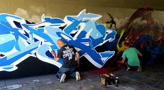 step in the arena Eindhoven (wojofoto) Tags: eindhoven nederland netherland holland streetart stepinthearena berenkuil festival graffiti 2018 wojofoto wolfgangjosten action artist streetartist mega