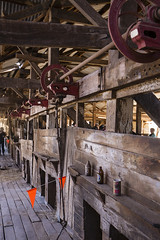 More Shearing Stands (oz_lightning) Tags: australia canon6d canonef1635mmf4lis dunlopstation nsw people westerndivision agriculture building decay disused interior outback rural woolshed louth newsouthwales aus