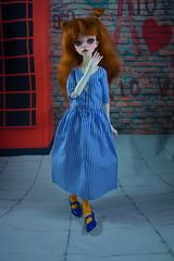 commission (Purple Raccoon) Tags: bjd balljonteddoll doll dolls dollclothes dollsewing commission dollleaves ida mufrid handmade craft sewing