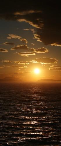 sunset composition