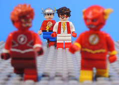 We'll See Them Soon Son (-Metarix-) Tags: lego super hero minifig dc comics comic flash rebirth flashpoint impulse jay garrick wally west kid custom decal