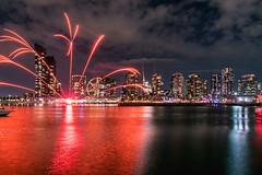 Firelight Festival 2018, Fireworks (SemiXposed) Tags: melbourne australia outdoors harbour clouds sony docklands firelight festival