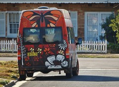 Nature on Van (mikecogh) Tags: glenelg van painted decorated butterfly flowers