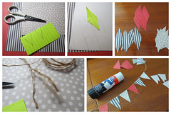 Making bunting (Foxy Belle) Tags: playscale barbie miniature paper bunting garland how tutorial scrapbook blythe