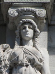 Mysterious Woman Dame Autumn Caryatid NYC 5417 (Brechtbug) Tags: mysterious woman dame autumn caryatid stone ladies courthouse roof statues across from madison square park new york city atlantid 2018 nyc 07152018 art architecture gargoyle gargoyles statue sculpture sculptures facade figures column columns court house law government building lady women figure form far east buildings season seasons fall