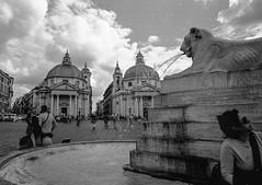 Piazza del Populo,  Rione IV Campo Marzio, Rome (Postcards from San Francisco) Tags: ma berggerpancro400 ber49 film analog roma italia