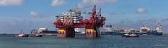 Floatel Endurance pano (Peet de Rouw) Tags: offshore platform floatel floatelendurance maasvlakte rotterdam portofrotterdam port panorama kotugsmit tugboats peetderouw denachtdienst holland netherlands canon5dmarkiv