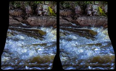Creek 3-D / CrossEye / Stereoscopy / HDR / Raw (Stereotron) Tags: north america canada province ontario waterfall cascade cataract falls lake river creek outback backcountry wilderness cross eye view xview crosseye pair free sidebyside sbs kreuzblick bildpaar 3d photo image stereo spatial stereophoto stereophotography stereoscopic stereoscopy stereotron threedimensional stereoview stereophotomaker photography picture raumbild twin canon eos 550d remote control synchron kitlens 1855mm 100v10f tonemapping hdr hdri raw 3dframe fancyframe floatingwindow spatialframe stereowindow window