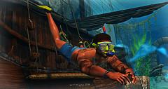 Summer Fun Snorkeling (spiritwingtips.photography) Tags: dopeness clothing ss blankline swagga unsluttyandundead underwater pirateship snorkeling summerfun goodtimes