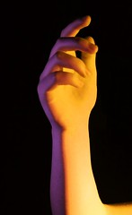 (josie.bell) Tags: hand colour black yellow purple lighting pop fingers