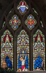 Scarborough, St Mary's church window (partial) (Jules & Jenny) Tags: scarborough stainedglasswindow stmaryschurch warrington