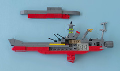 Space Battleship Yamato instructions 09 (Tino Poutiainen) Tags: lego legomoc legobuild blazers scale instructions scifi ship space star stand yamato photography photograph picture anime japan