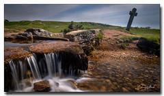 Windy Post (jeremy willcocks) Tags: windypost dartmoor devon ukjeremywillcocksc2018fujixpro2xf1024mm landscape colour cross stone water stream leat moor moors wwwsouthwestscenesmeuk
