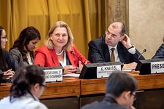 Karin Kneissl bei der UN-Abrüstungskonferenz in Genf